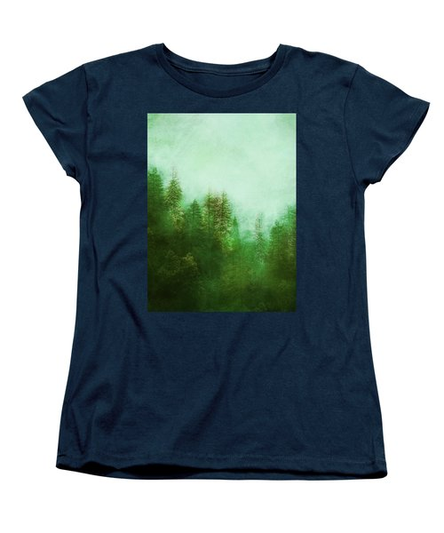 Dreamy Spring Forest Women's T-Shirt (Standard Cut) by Klara Acel