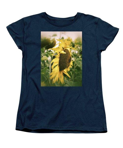 Women's T-Shirt (Standard Cut) featuring the photograph Dreamy Sunflower by Karen Stahlros