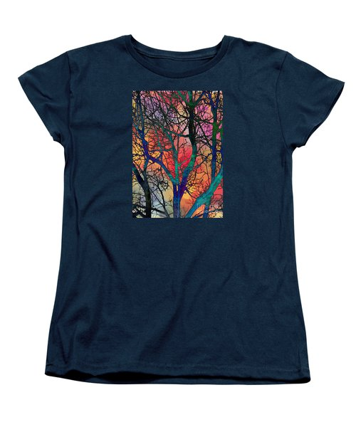 Dreamy Sunset Women's T-Shirt (Standard Cut) by Klara Acel