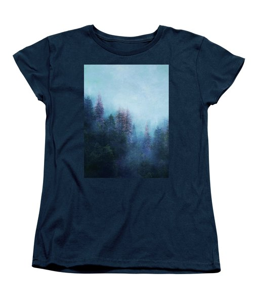 Dreamy Winter Forest Women's T-Shirt (Standard Cut) by Klara Acel