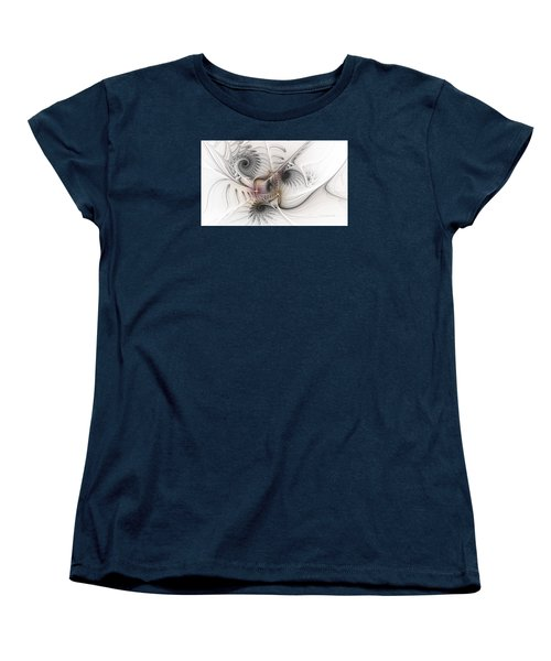 Women's T-Shirt (Standard Cut) featuring the digital art Dressed In Silk And Satin by Karin Kuhlmann