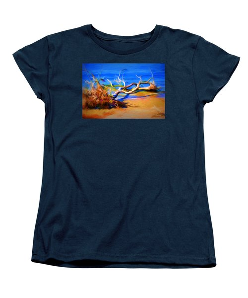 Women's T-Shirt (Standard Cut) featuring the photograph Driftwood by Ludwig Keck