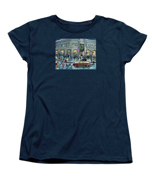 Driving By Cronins, After Getting The Tree Women's T-Shirt (Standard Cut) by Rita Brown