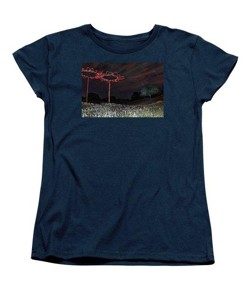 Drone Flowers Women's T-Shirt (Standard Cut) by Andrew Nourse