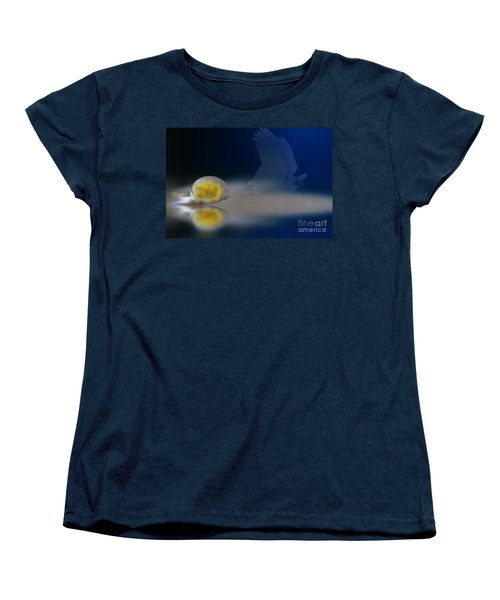 Droplet On A Cockatoo Feather Women's T-Shirt (Standard Cut)
