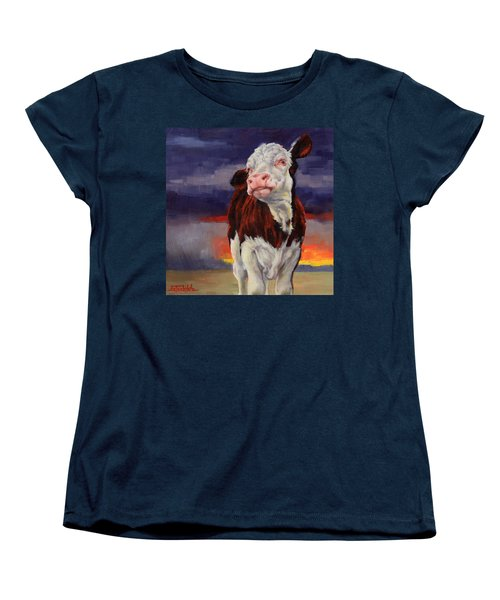Women's T-Shirt (Standard Cut) featuring the painting Drought Breaker by Margaret Stockdale