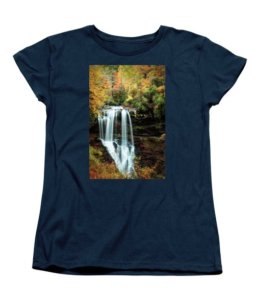 Dry Falls Autumn Splendor Women's T-Shirt (Standard Cut) by Deborah Scannell