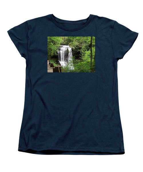 Dry Falls In The Spring Women's T-Shirt (Standard Cut) by Cathy Harper