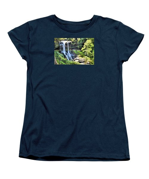 Dry Falls Of Appalachia Women's T-Shirt (Standard Cut) by James Potts