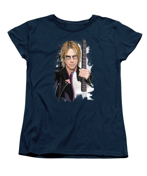 Duff Mckagan Women's T-Shirt (Standard Cut) by Melanie D