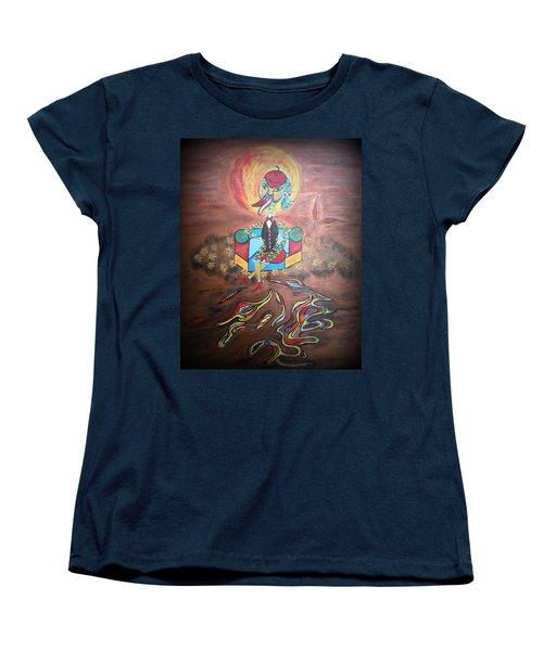 Duke At Sunset Women's T-Shirt (Standard Cut) by Marie Schwarzer