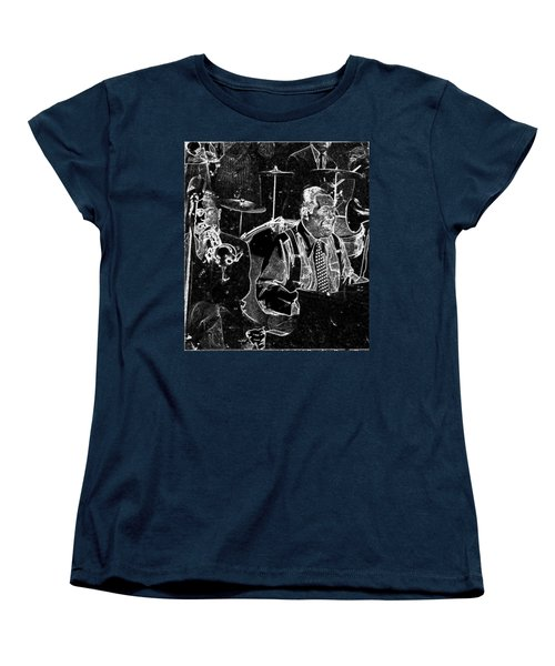 Women's T-Shirt (Standard Cut) featuring the mixed media Duke Ellington by Charles Shoup