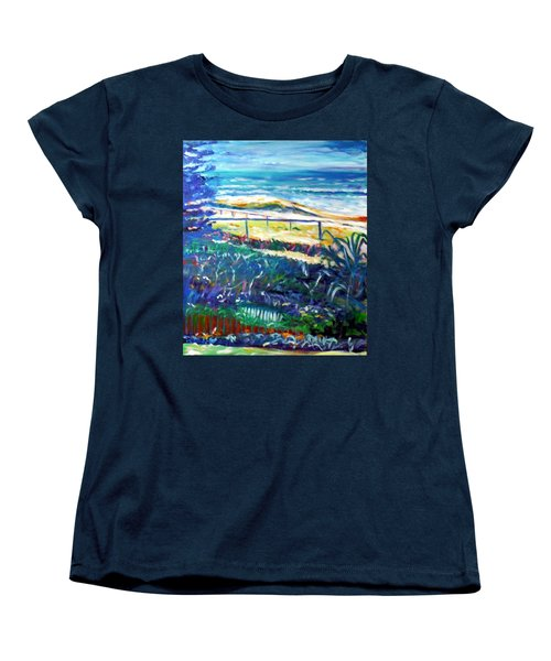 Women's T-Shirt (Standard Cut) featuring the painting Dune Grasses by Winsome Gunning