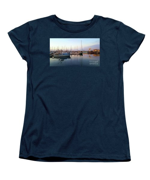 Dusk At Old Fisherman's Wharf Women's T-Shirt (Standard Cut) by Gina Savage