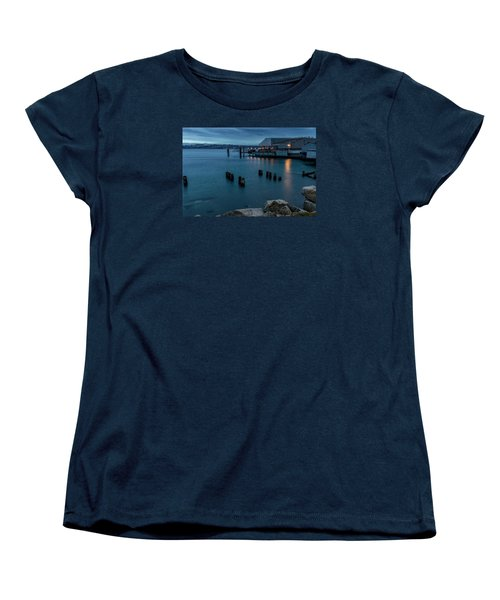 Dusk Falls Over The Lobster Shop Women's T-Shirt (Standard Cut) by Rob Green