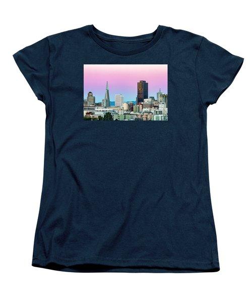 Women's T-Shirt (Standard Cut) featuring the photograph Dusk In San Francisco by Bill Gallagher