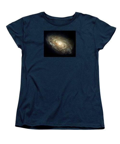 Dusty Spiral Galaxy  Women's T-Shirt (Standard Cut) by Hubble Space Telescope