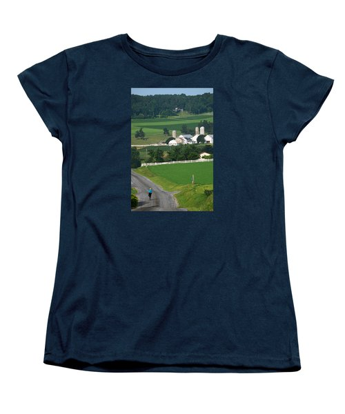 Dutch Country Bike Ride Women's T-Shirt (Standard Cut) by Lawrence Boothby