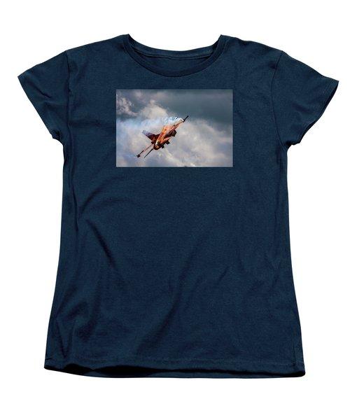 Dutch F16 Take Off At Waddington Women's T-Shirt (Standard Cut) by Ken Brannen