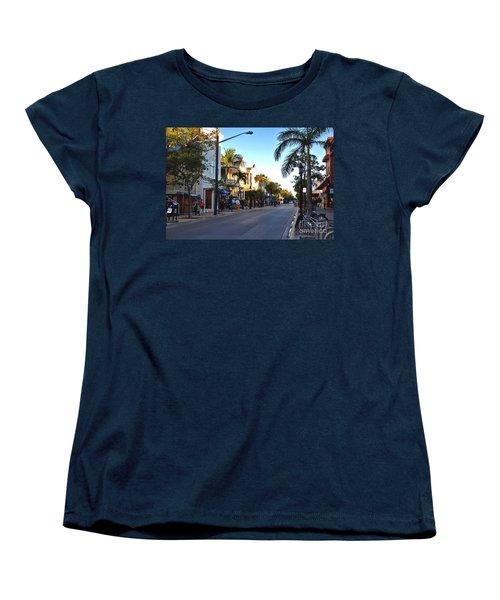 Duval Street In Key West Women's T-Shirt (Standard Cut)