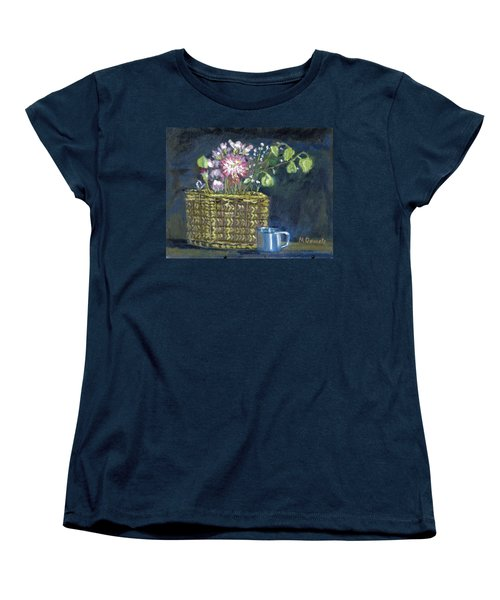 Women's T-Shirt (Standard Cut) featuring the painting Dying Flowers by Michael Daniels