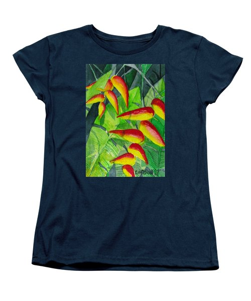 Women's T-Shirt (Standard Cut) featuring the painting Dynamic Halakonia by Eric Samuelson