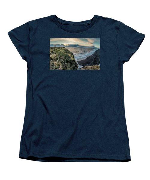 Dyrholaey Light House Women's T-Shirt (Standard Cut) by Allen Biedrzycki