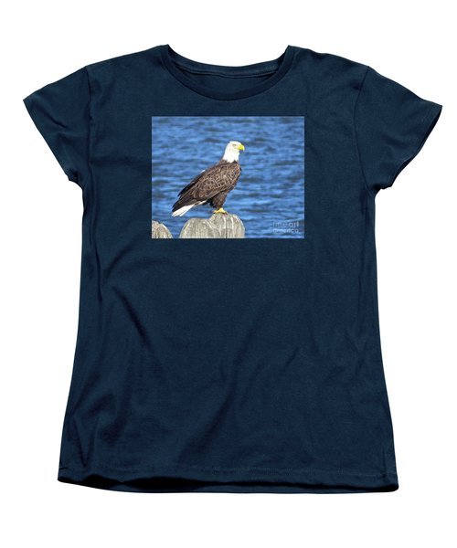 Eagle At East Point  Women's T-Shirt (Standard Cut) by Nancy Patterson