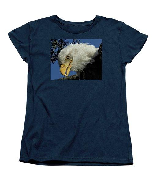 Eagle Head Women's T-Shirt (Standard Cut) by Sheldon Bilsker