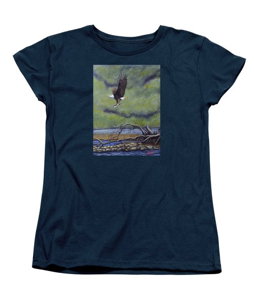 Women's T-Shirt (Standard Cut) featuring the painting Eagle River by Dan Wagner