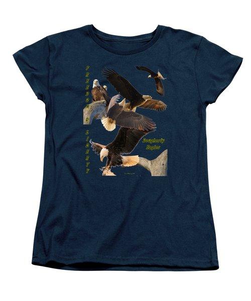 Eagle T-shirt Women's T-Shirt (Standard Cut) by Bonfire Photography