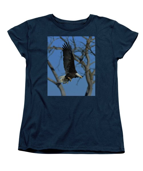 Women's T-Shirt (Standard Cut) featuring the photograph Eagle With Fish by Coby Cooper