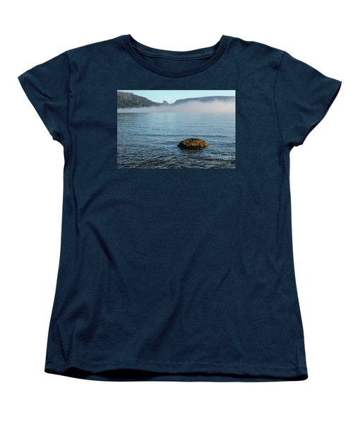 Women's T-Shirt (Standard Cut) featuring the photograph Early Morning At Lake St Clair by Werner Padarin