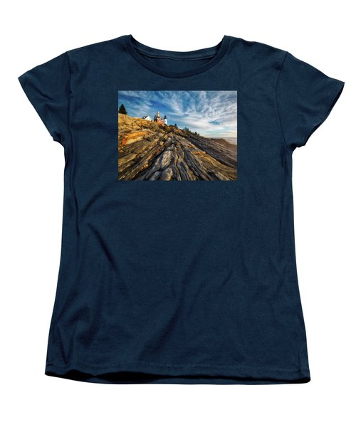 Women's T-Shirt (Standard Cut) featuring the photograph Early Morning At Pemaquid Point by Darren White