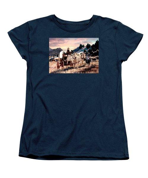 Early Morning Drive Women's T-Shirt (Standard Cut) by Ron Chambers