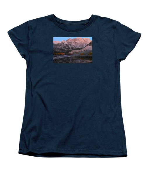 Early Morning Light At North Lake In The Eastern Sierras During Autumn Women's T-Shirt (Standard Cut) by Jetson Nguyen