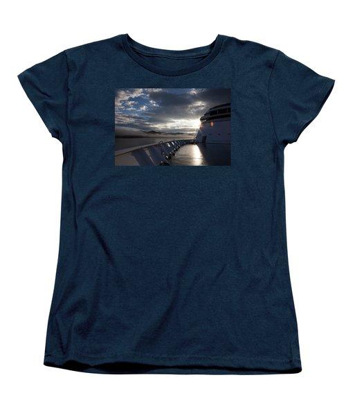 Early Morning Travel To Alaska Women's T-Shirt (Standard Cut) by Yvette Van Teeffelen