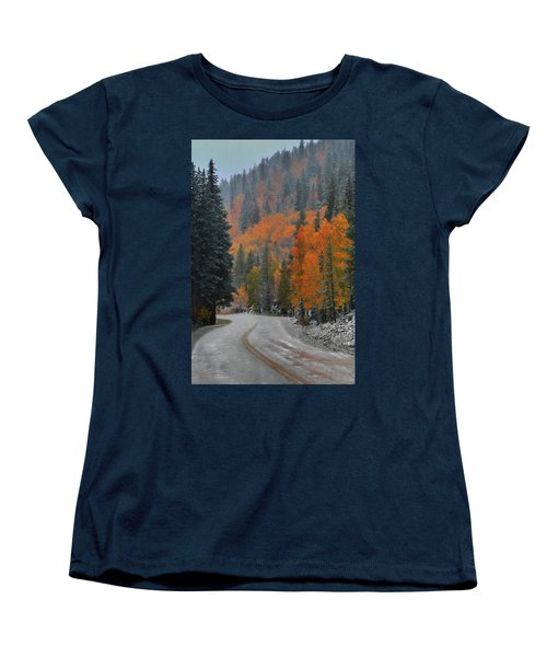 Women's T-Shirt (Standard Cut) featuring the photograph Early Snow by Dana Sohr