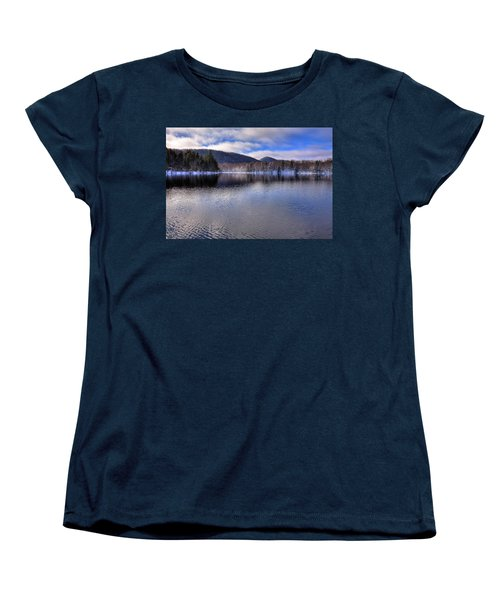Early Snow On West Lake Women's T-Shirt (Standard Cut) by David Patterson
