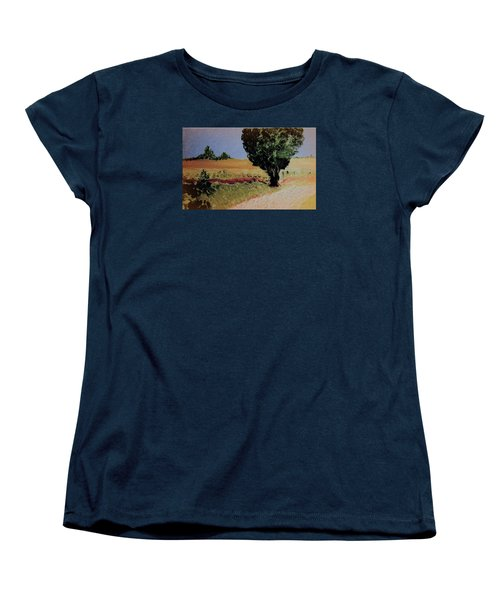 Women's T-Shirt (Standard Cut) featuring the painting Early Sunday Morning by Bill OConnor