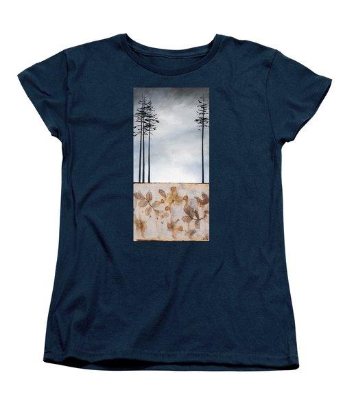 Earth And Sky Women's T-Shirt (Standard Cut) by Carolyn Doe