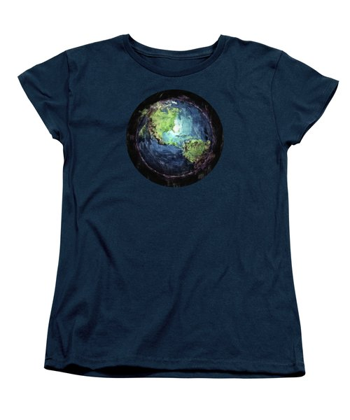 Earth And Space Women's T-Shirt (Standard Cut) by Phil Perkins