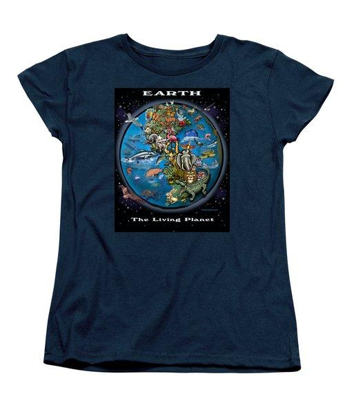 Earth Women's T-Shirt (Standard Cut) by Kevin Middleton