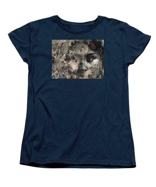 Women's T-Shirt (Standard Cut) featuring the photograph Earth Memories - Stone # 7 by Ed Hall