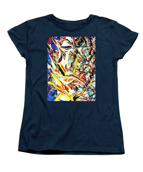 Women's T-Shirt (Standard Cut) featuring the painting Earth Quaked by Elf Evans