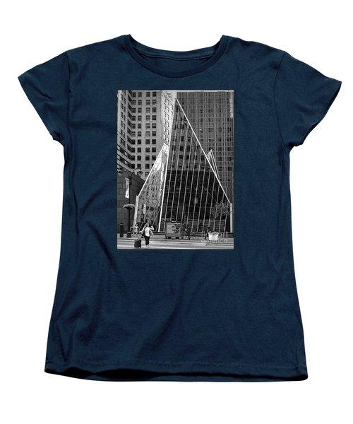 East 42nd Street, New York City  -17663-bw Women's T-Shirt (Standard Cut) by John Bald