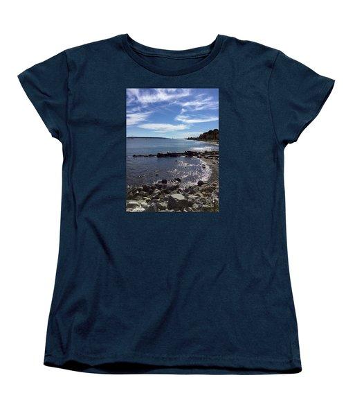East End Beach Portland, Maine, October 2015 Women's T-Shirt (Standard Cut) by Patricia E Sundik