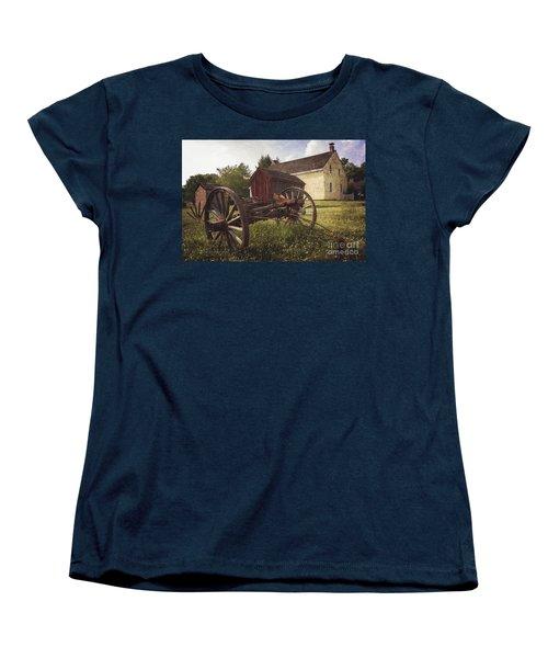East Jersey Olde Town Women's T-Shirt (Standard Cut) by Debra Fedchin