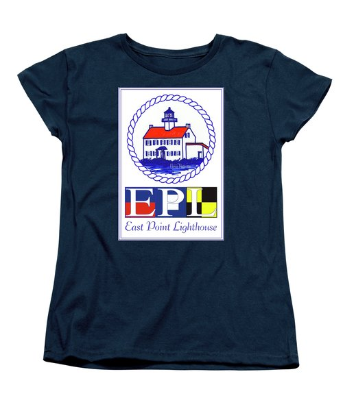 East Point Lighthouse Poster - 2 Women's T-Shirt (Standard Cut) by Nancy Patterson