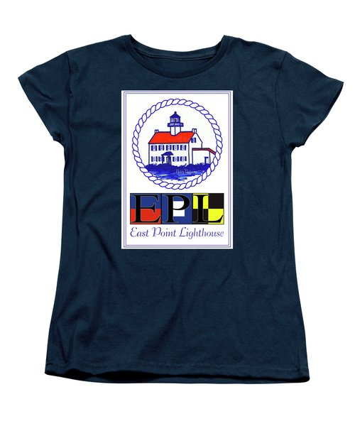 East Point Lighthouse Poster Women's T-Shirt (Standard Cut) by Nancy Patterson